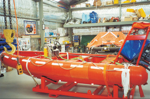 Fleet Services Lifeboat service and surveys, hold cleaning